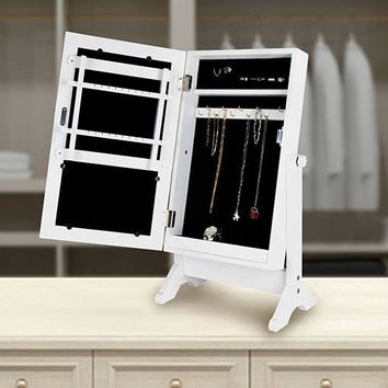 Tabletop Mirror Jewellery Cabinet