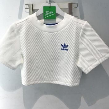 """Adidas"" Short Shirt Crop Top Tee Blouse"