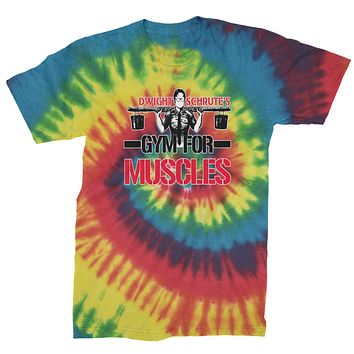Dwight Schrute Gym For Muscles Mens Tie-Dye T-shirt