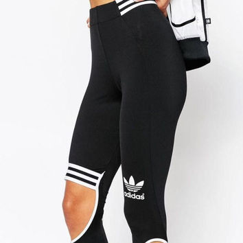 Adidas Woman Fashion Hollow Sport Pants Trousers Sweatpants