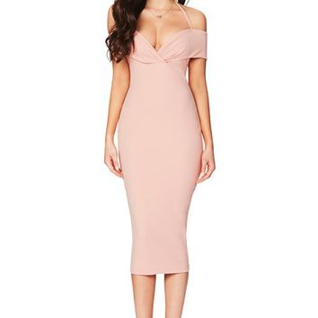 ATHENA OFF SHOULDER MIDI : Buy Designer Dresses Online at Nookie