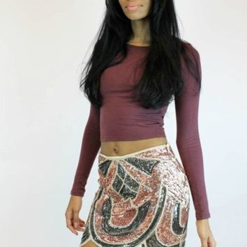 Omkeren Tulip Sequin Skirt | Endless Rose
