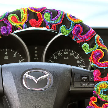 Steering Wheel Cover Bow Wheel Car Accessories Lilly Heated For Girls Interior Aztec Monogram Tribal Camo Cheetah Sterling Chevron Floral