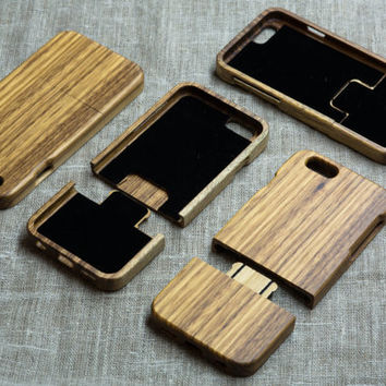Zebra Wood iPhone 6 case, wooden case for iPhone ,unique wood engraving case iPhone 6 case wood case, xmas gift, wooden cases for iPhone 6