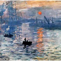Claude Monet Impression Sunrise Art Poster 11x17