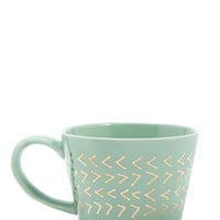 Metallic Geo Ceramic Mug