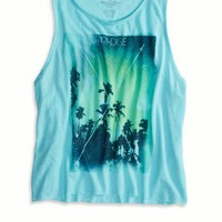 AEO Women's Photo Real Graphic Tank (Dream Blue)