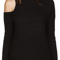 Black Asymmetric Sweater