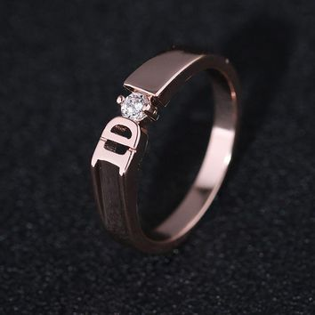 2017 New fashion simple IDO engagement ring ring for women marriage men and women J02773