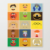 We Are the Muppets Stretched Canvas by Fries Frame