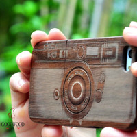 wood iphone 6 case,wooden iPhone 6 Case, wood  iPhone 6 plus case,iphone 6 iphone 6 plus cover case - Engraved Camera case,Gift,Eco-friendly