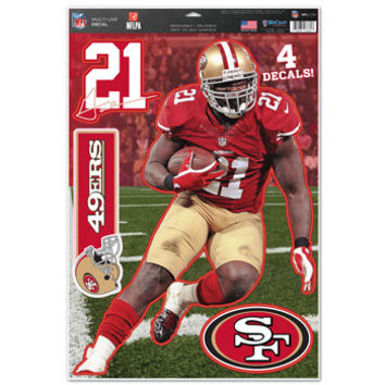 San Francisco 49ers Frank Gore Decal 11x17 Multi Use