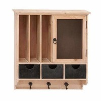 Attractive Styled Wood Metal Wall Cabinet