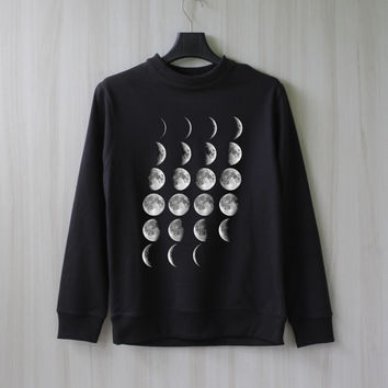 Moon Phase Moon Cycle Sweatshirt Sweater Shirt – Size XS S M L XL