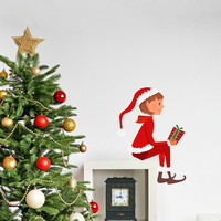 Elf on the Shelf Printed Wall Decal