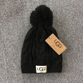 Black Winter Trendy Warm Soft Knit Hat
