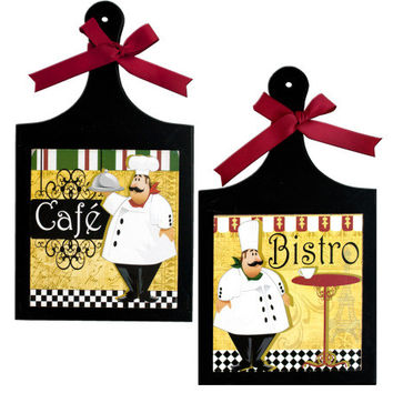 French Chef Wall Plaque: Case of 12