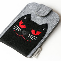 Iphone Phone Sleeve Inspired by Behemoth the Cat from The Master and Margarita Phone Cover