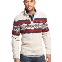 Tommy Hilfiger Sweater, Burgess Half Zip Sweater
