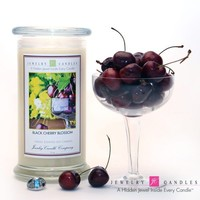 Black Cherry Blossom Jewelry Candle