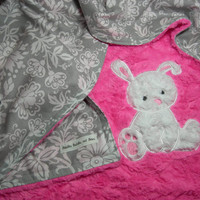 Baby Bunny Standard Blanket with Applique