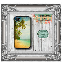 Hawaii Beach iPhone Case, Hard Plastic iPhone Case, Fits iPhone 4, iPhone 4s & iPhone 5, Phone Cover, Phone Case