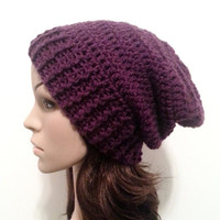 Everyday Slouch Hat - Eggplant - made to order