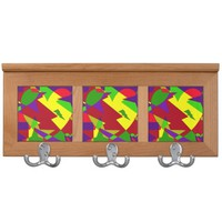 Retro Colorful Abstract Coat Rack