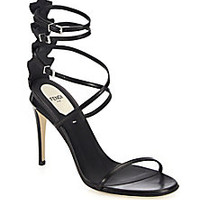 Fendi - Ava Leather & Crocodile Strappy Sandals - Saks Fifth Avenue Mobile