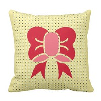 Pretty & Bowed Throw Pillow