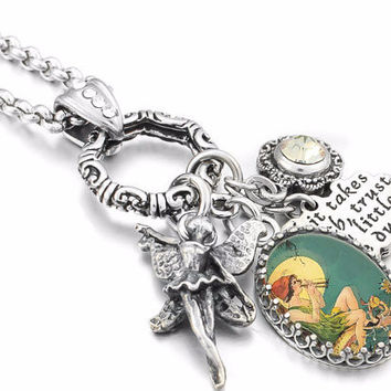 Peter Pan Necklace, Tinkerbell Necklace