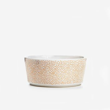 Specktacular Polka Dot Dog Bowl Rose Gold