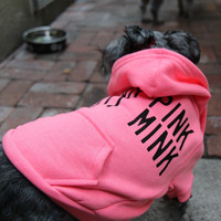 Wear Pink Not Mink Dog Hoodie