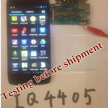 100% tested lcd display For FLY IQ4405 LCD Display Screen With Touch screen Digitizer Sensor + 3M Sticker ; free tracking