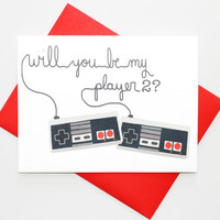 Will You Be My Player 2? -- Valentine's Day Card