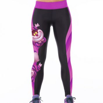 Tiger Printed Sports Yoga Leggings