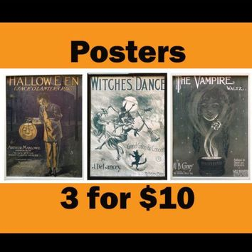 Spooky home decor spooky witch spooky halloween decor Old halloween decor decoration spooky decor spooky wall art print spooky wall decor