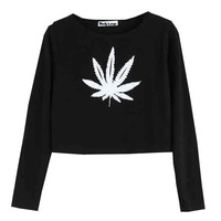 Black Leaf Sweater