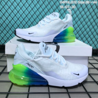 KO-YOU N128 Nike 2018 Wmns Air Max 270 Flyknit Crystal Particle Cushion Causal Running Shoes White Green