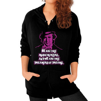 WE ARE THE MUSIC MAKERS Zip Hoodie (on woman)
