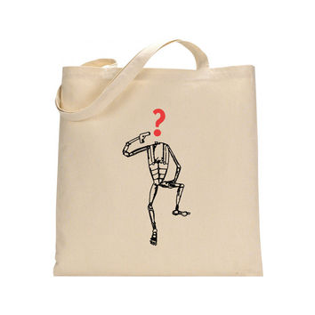 Hipster robot tote canvas bag