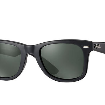 Ray-Ban ORIGINAL WAYFARER CLASSIC RB2140 Black - Acetate - Green Lenses - 0RB214090150 | Ray-Ban® USA