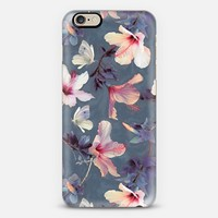 Butterflies and Hibiscus Flowers - a painted pattern iPhone 6 case by Micklyn Le Feuvre | Casetify