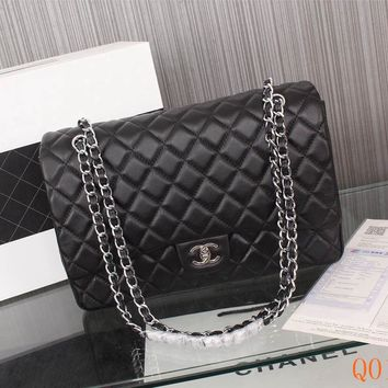 HCXX 19Sep 106 Fashion Pop 1119 Maxi Classic Embossing Chain Flap Bag Casual Quilted Bag 33-22-10cm