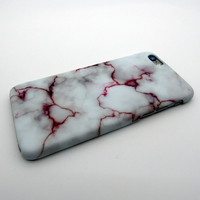 White Purple Marble Stone iPhone  X 8 7 Plus & iPhone 6s 6 Plus Case Cover + Nice Gift Box 267