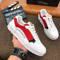 Versace Men Fashion Boots  fashionable casual leather  Breathable Sneakers Running Shoes Sneaker