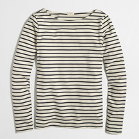 Factory long-sleeve stripe boatneck tee : long sleeve | J.Crew Factory