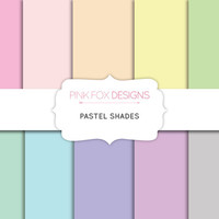 Pastel Digital Paper  10 Sheets Digital Printable DIY Scrapbook Paper Craft Paper
