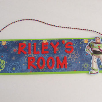 Personalized Toy Story Buzz Lightyear Name Sign - Toy Story Room Decor - Buzz Lightyear