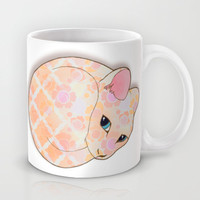 Introvert Kitten - patterned cat illustration Mug by Perrin Le Feuvre